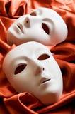 Concepto del teatro - máscaras blancas Fotografía de archivo