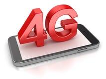 Concepto del teléfono 4G Imagen de archivo libre de regalías