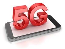 Concepto del teléfono 5G Fotos de archivo