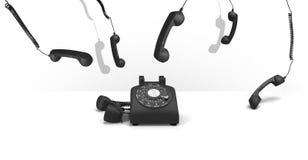 Concepto del teléfono del vintage fotografía de archivo