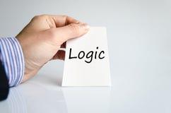 Concepto del texto de la lógica imagenes de archivo