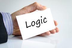 Concepto del texto de la lógica foto de archivo libre de regalías
