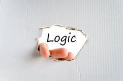 Concepto del texto de la lógica fotografía de archivo