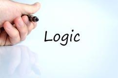 Concepto del texto de la lógica imagen de archivo
