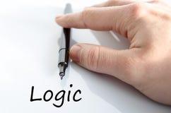 Concepto del texto de la lógica fotos de archivo