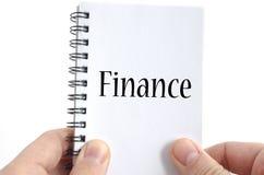 Concepto del texto de las finanzas fotos de archivo