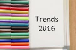 Concepto del texto de las tendencias 2016 Imagen de archivo libre de regalías