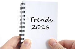Concepto del texto de las tendencias 2016 Fotografía de archivo libre de regalías