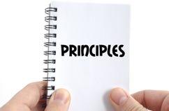 Concepto del texto de los principios fotografía de archivo