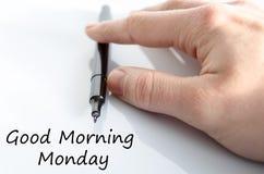 Concepto del texto de lunes de la buena mañana imagen de archivo