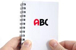 Concepto del texto del ABC Imagenes de archivo