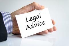 Concepto del texto del asesoramiento jurídico imagenes de archivo
