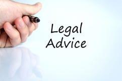 Concepto del texto del asesoramiento jurídico fotografía de archivo