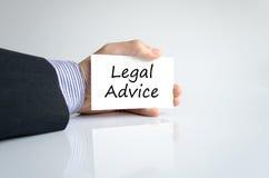 Concepto del texto del asesoramiento jurídico fotografía de archivo libre de regalías