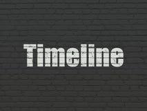 Concepto del tiempo: Cronología en fondo de la pared stock de ilustración