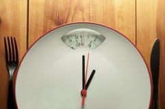 Concepto del tiempo de la dieta Imagenes de archivo