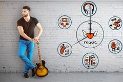 Concepto del tiempo de la música Foto de archivo libre de regalías