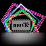 Concepto del tiempo de película Plantilla creativa para el cartel del cine, bandera en estilo retro de la historieta libre illustration