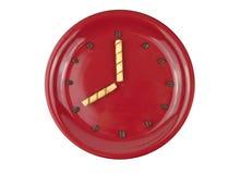 Concepto del tiempo del café con el reloj hecho del grano de café Fotos de archivo