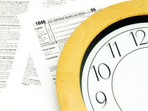 Concepto del tiempo del impuesto foto de archivo libre de regalías