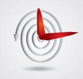 Concepto del tiempo, reloj abstracto Fotografía de archivo libre de regalías