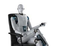 Concepto del trabajador de la automatizaci?n libre illustration