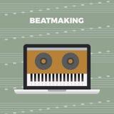 Concepto del trabajo de la música Imagen de archivo