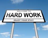 Concepto del trabajo duro. Imagenes de archivo
