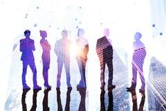 Concepto del trabajo en equipo, del éxito y de la reunión imagenes de archivo