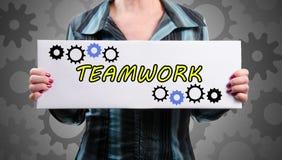 Concepto del trabajo en equipo Imagen de archivo