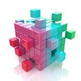 Concepto del trabajo en equipo, de Internet y de la comunicación del negocio Imágenes de archivo libres de regalías