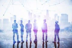 Concepto del trabajo en equipo, de la reunión y de la comunicación fotos de archivo