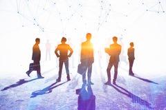 Concepto del trabajo en equipo, de la reunión y de la conexión ilustración del vector
