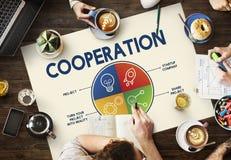 Concepto del trabajo en equipo de la unidad de Cooperation Alliance Company Fotos de archivo