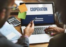 Concepto del trabajo en equipo de la unidad de Cooperation Alliance Company Imagen de archivo libre de regalías
