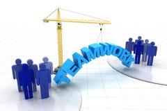 Concepto del trabajo en equipo del edificio Imagen de archivo