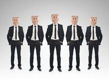 Concepto del trabajo en equipo del hombre de negocios Foto de archivo