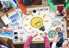 Concepto del trabajo en equipo del plan de la estrategia de aprendizaje de las ideas Imagen de archivo libre de regalías