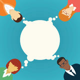 Concepto del trabajo en equipo del vector brainstorming Libre Illustration