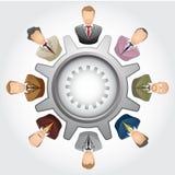 Concepto del trabajo en equipo: Grupo de bussinessman Fotos de archivo