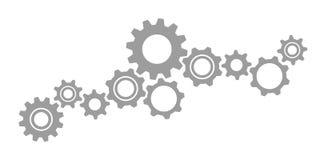 Concepto del trabajo en equipo del icono de los dientes de las ruedas dentadas libre illustration