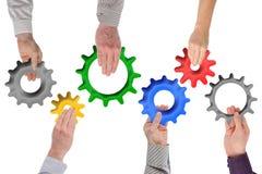 Concepto del trabajo en equipo y de la integración Imagen de archivo libre de regalías