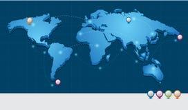 Concepto del transporte del mapa del mundo 3d Imagen de archivo libre de regalías