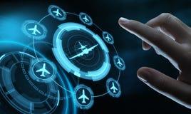Concepto del transporte del viaje de la tecnología del negocio con los aviones stock de ilustración