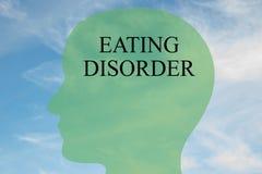 Concepto del trastorno alimentario Fotos de archivo libres de regalías