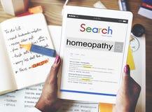 Concepto del tratamiento de la dosis del minuto de la medicina de la homeopatía Foto de archivo libre de regalías