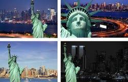 Concepto del turismo de la libertad del estado del paisaje urbano de Nueva York fotografía de archivo