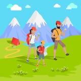 Concepto del turismo de la montaña libre illustration