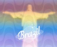 Concepto del turismo del monumento del Brasil ilustración del vector