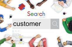 Concepto del usuario del comprador de la blanco del comprador del cliente del cliente Imágenes de archivo libres de regalías